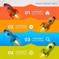 Colorful Business Infographic with Rockets