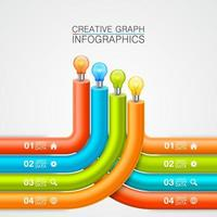bombilla en tubos idea infografía