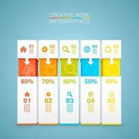 infográfico de opção de menu criativo