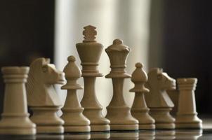 piezas de ajedrez foto