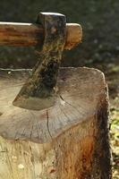 Axe close-up photo