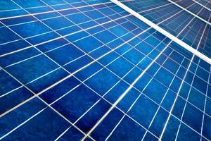 Solar panel close up photo