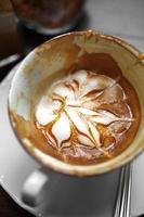 close up hot latte