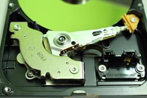 disco duro de cerca foto