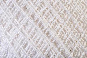 White Yarn close up photo