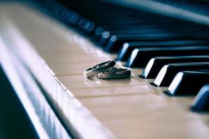 Wedding Rings In Piano photo