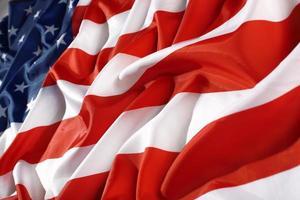 close up flag USA photo