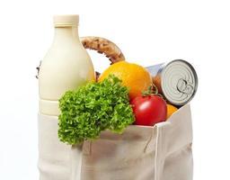 primer plano de bolsa de supermercado foto