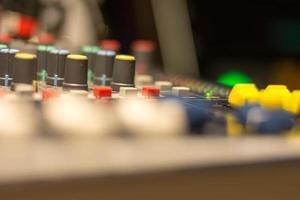 dj mixer, close up