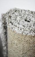 Carpet roll close up