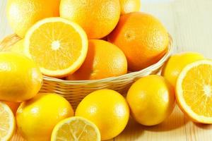 naranja fresca orgánica foto