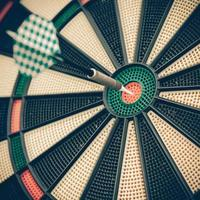 Darts board, close up photo