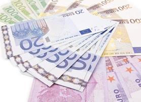 Euro banknotes close up photo