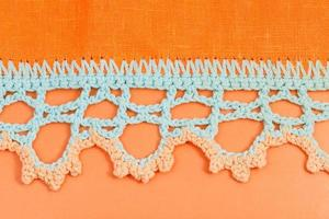 crochet lace close up
