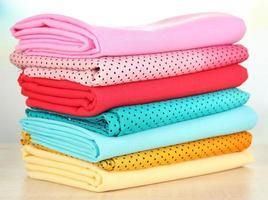 Cloth fabrics close up photo