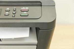 primer plano de la impresora