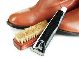 Shoe Polishing close up
