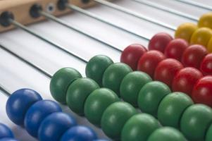 Close up wooden abacus