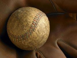 Antique baseball close-up