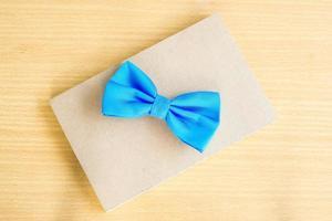 Blue bow close up