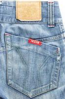 Close-up blue jean