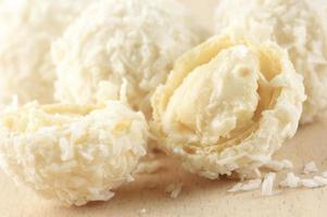 kokos snoepjes close-up