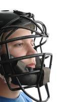 Baseball catcher close up