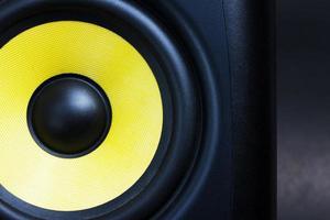 audio speaker close up