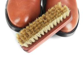 Shoe Polishing close up photo