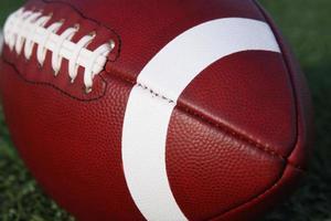 Collegiate Football Close up