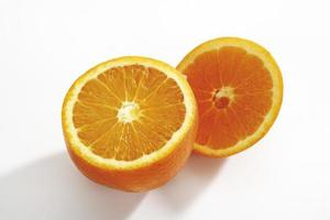 Sliced orange, close-up photo