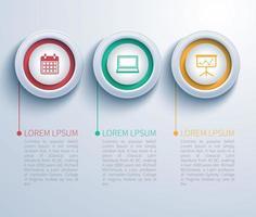 iconos circulares negocios infografía vector