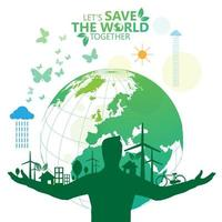 Save the World Green Environmental Poster
