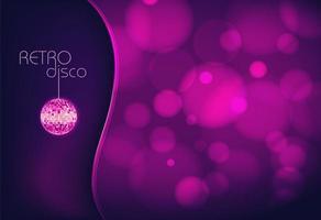 fond disco bokeh violet vecteur