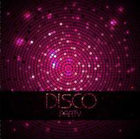 padrão disco rosa vetor