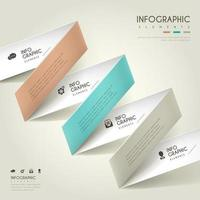 Folded Paper Design Business Infographic
