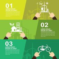 Eco-Friendly Infographic with Three Parts
