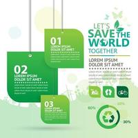 Hanging Green Tags Eco Infographic