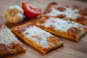 pizza de pan plano 02 foto