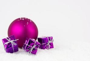 temps de Noël violet