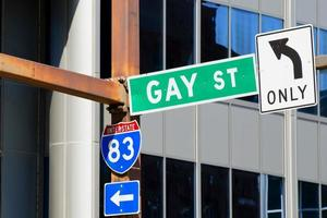 Gay Street Only sign