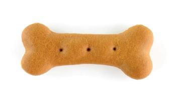 Dog food biscuit shaped like bones