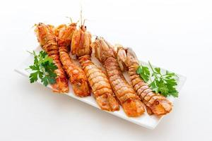 mantis camarones tomates foto