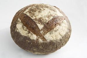 round rustic bread photo