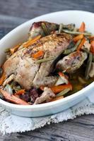 Pot-roasted pheasant