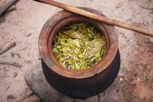 proces van weven, verven, thaisilk