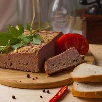 Homemade baked pate