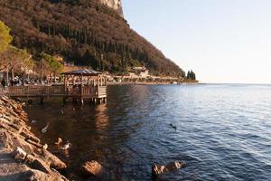 Lake Garda in sunset photo