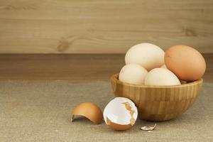 Homemade chicken eggs.