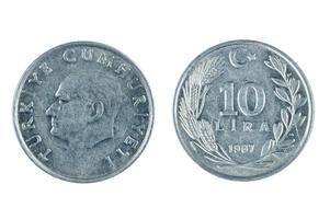 monedas de pavo foto